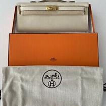 Authentic Hermes Kelly Cut Clutch Swift Cream Photo