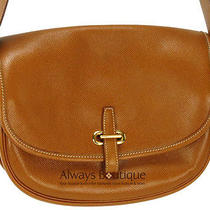 Authentic Hermes Leather Balle De Golfe Shoulder Bag Photo