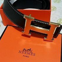 Authentic Hermes Leather Belt Photo