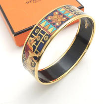 Authentic Hermes Metal Material Emauey Bangle Lion Pattern Bracelet Photo