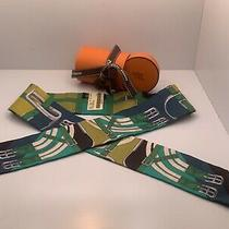 Authentichermes Mors a Jouets Balck Navy Green Twilly Scarf / Tie France New Photo