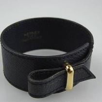 Authentic Hermes Navy Leather Bracelet Very Good Condition Photo