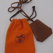Authentic Hermes Necklace Tour De Cou Clochette Leather W/its Orange Dust Cover Photo