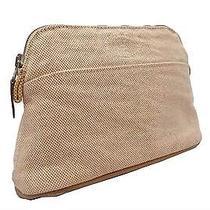 Authentic  Hermes Orange  Bolide Pouch Cotton Bag Small  E-3970 Photo