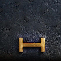 Authentic Hermes Ostrich Leather Wallet - Vintage Hermes Photo