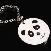 Authentic Hermes Panda Motif Sterling Silver 925 Key Chain Bag Charm C976 Photo
