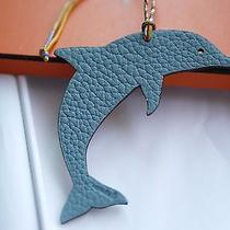 Authentic Hermes Petit H Dolphin Bi-Color Charm With Shrimp Photo