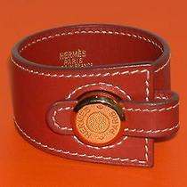 Authentic Hermes Red Bracelet Photo