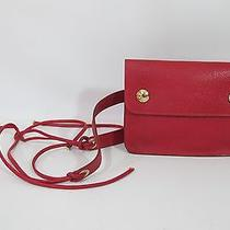 Authentic Hermes  Red Courchevel Greene Waist Belt  Bag Nice Photo