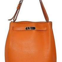 Authentic Hermes Sac a Main So-Kelly 26cm Orange Leather Handbag Photo