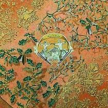 Authentic Hermes Scarf 100% Silk Neige d'antan Orange Multi Color Good 80665 Photo