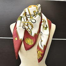 Authentic Hermes Scarf  Key Design Silk Red 8165 Photo