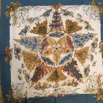 Authentic Hermes Scarf With Box-Pythagore Photo