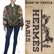 Authentic Hermes Silk Bomber Jacket Hermes Photo