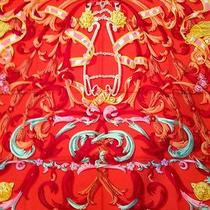 Authentic Hermes Silk Scarf Mors a La Conetable by Henry d'origny 90cm X 90cm Photo