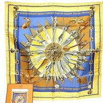 Authentic Hermes Silk Stole Scarf 90x90 Cuillers d'afrique Unused G230 Photo