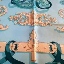 Authentic Hermes Silk Twill Scarf Ferronnerie 90cm X 90cm by Caty Latham Photo