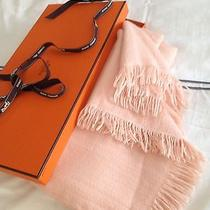 Authentic Hermes Soft Pink  Shawl With Hermes Box Photo