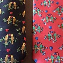 Authentic Hermes Tie. 2 Love Bird Ties Photo