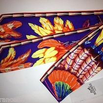 Authentic Hermes Twilly Scarf Brazil Purple Orange Yellow Rare New  Photo