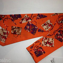 Authentic Hermes Twilly Scarf Kelly en Caleche Orange Very Rare Design New  Photo