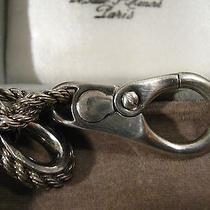 Authentic Hermes Vintage  Key Chain Ring Sterling Silver  Photo