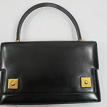 Authentic Hermes Vintage Piano Bag Black Box Calf Ghw Photo