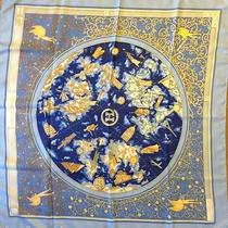 Authentic Hermes www.hermes.com Silk Scarf 35