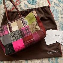 Authentic Holiday Edition Coach Tote Bag Photo