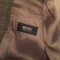 Authentic Hugo Boss Usa Tweed Jacket Blazer Coat Top Italy Designer Lamb Wool Photo