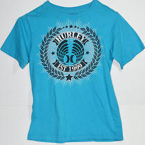 Authentic Hurley Graphic T-Shirt Blue Large Photo