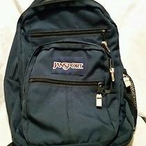 Authentic Jansport Backpack Blue School College Carry-on Bag Photo