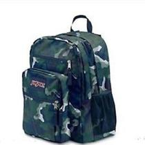 Authentic Jansport Big Student Backpack Navy Streaky Camo Blue Nwt Large Photo
