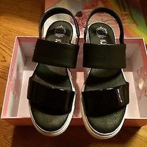 Authentic Jeffrey Campbell Black Leather Sandals Photo