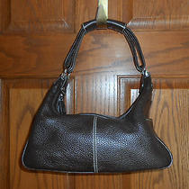 Authentic Jp Tod's Dark Brown Leather Mickey Hobo Bag Photo