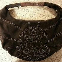 Authentic Juicy Couture Brown Suede Hand Bag Hobo Photo