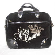 Authentic Juicy Couture Brown Velour Embroidery Laptop Computer Bag Satchel  Photo