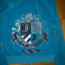 Authentic Juicy Couture Girls Hoodie Sz 12 Aqua Blue Photo