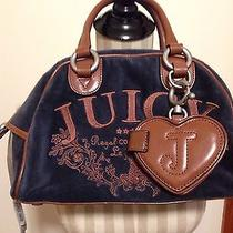 Authentic Juicy Couture Handbag in Excellent Condition Bl/brown Extras Attach Photo