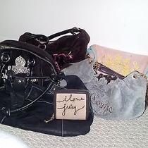 Authentic Juicy Couture Handbag Lot  Bonus Bcbg Handbag Photo