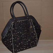Authentic Juicy Couture Jamie Tote Leopard Jacquard Hobo Handbag Purse Photo