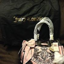 Authentic Juicy Couture Pink Nardels Velour Bag Photo