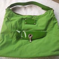 Authentic Kate Spade Green Microfiber Purse         16 Photo