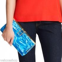 Authentic Kate Spade Pool Dive in Water Patent Leather Clutch Handbag Bag Purse Photo