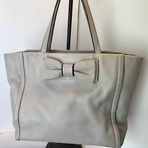 Authentic Kate Spade Rose Blush Pink Medium Leather Tote With Bow Photo