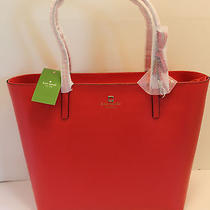 Authentic Kate Spade Sawyer Street Maxi Lacquer Red Leather Tote  Photo