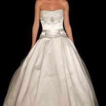 Authentic Kenneth Pool Satin Wedding Dress by Amsale Photo