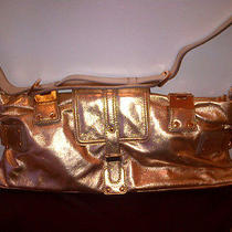 Authentic Kooba Harlan Rose Gold Cross-Body Messenger Clutch Shoulder Bag Photo