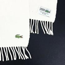 Authentic Lacoste Chemise Scarf White France Wool Lacoste Scarf Photo