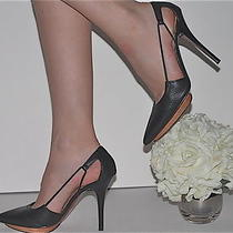 Authentic Lanvin 2012 Ete Black Leather Platform Heels Size 39 Photo